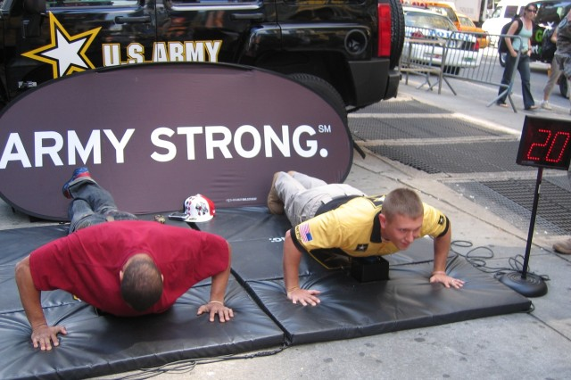 Marksman Competes in Pushups