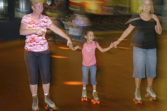 Celebrating birthday on roller skates