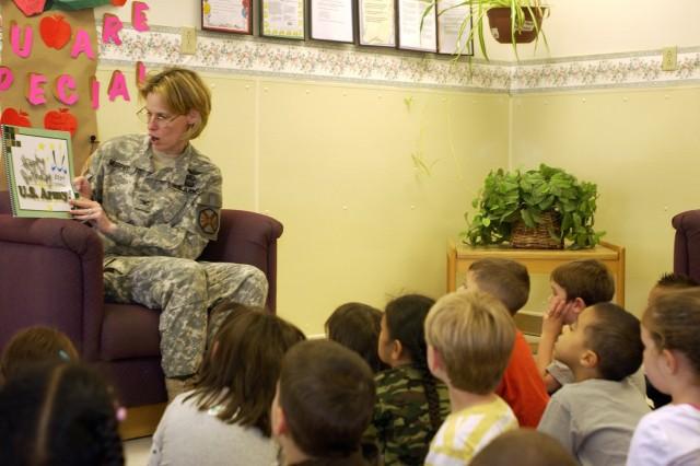 Garrison commander reads