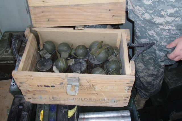 Army officials want the message out on the dangers of taped grenades.