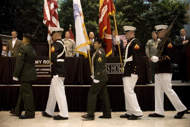 Color Guard Presents colors during a Sears Holding Corporation Statement of Support Signing