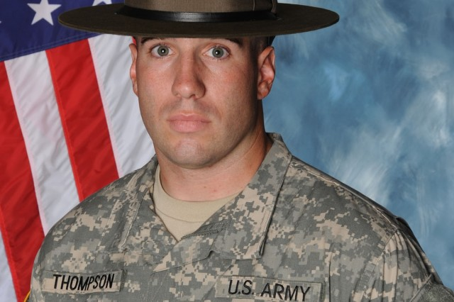 Staff Sgt. Herbert Thompson IV of Fort Jackson, S.C., was selected as the active-duty drill sergeant of the year.