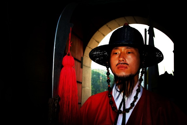 Koreans are proud of their 5,000 year history. Around the city at historic sites Koreans actors dress in ancient garb to entertain visitors.