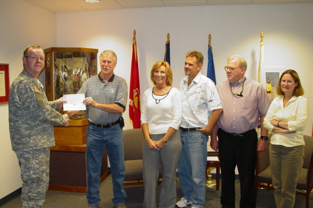 CAAA Receives Recycling Check