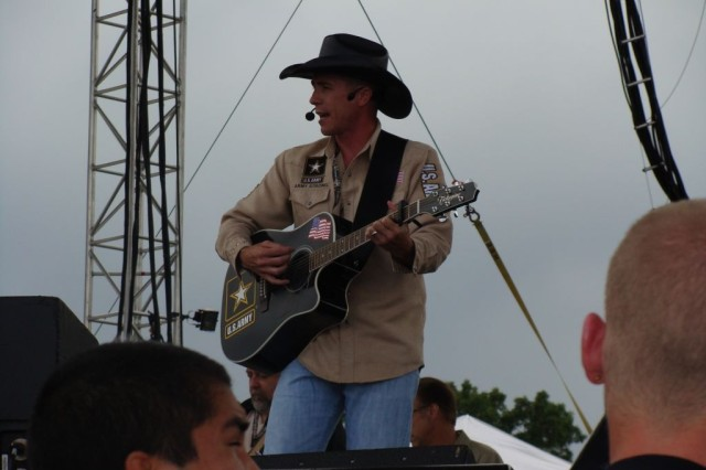 SFC Jamie Buckley performs at Country USA