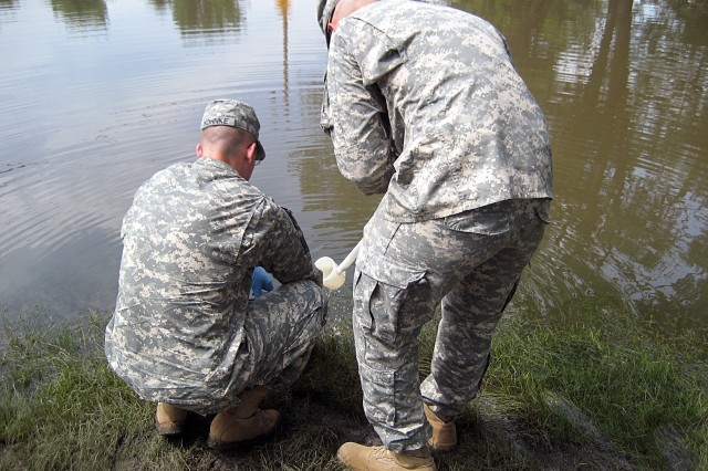 Lt. Col. Timothy Glynn, civil support team commander from the Iowa Army National Guard, who used his Soldiers' skills of locating weapons of mass destruction to assist in finding hazardous materials in flooded areas of the Midwest