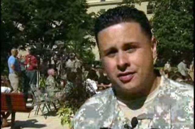 Staff Sgt. Luis Barreto, Re-enlisted.