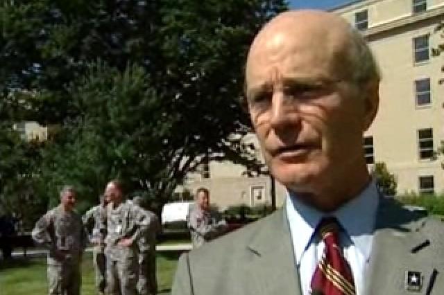 Secretary of the Army Pete Geren.