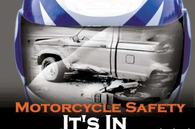 Motorcycle Safety, It's In Black & White. (United States Army Graphic by Spc. Marques Hunt).