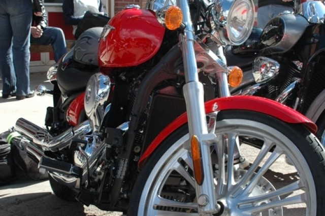 One of the many beautiful steel horses that participated in the 10th Annual Motorcycle Run to Turkey Creek.