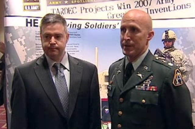Jim Revello, Program Manager of HEAT, and Lt. Col. Scott Pullford, TARDEC