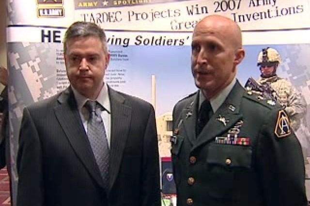 Jim Revello and Lt. Col. Scott Pullford