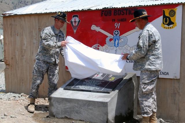Afghanistan base renamed in honor of commander who died in combat