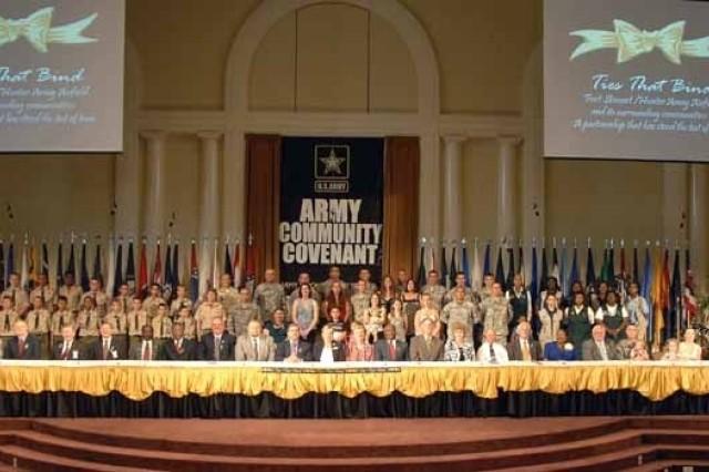 Stewart-Hunter signs Community Covenant