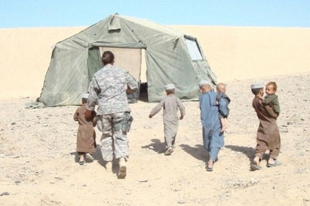 Coalition forces provide medical care in Helmand Province, Afghanistan