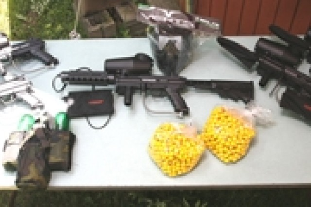 The Picatinny Outdoor Recreation paintball center offers players a full variety of gear.