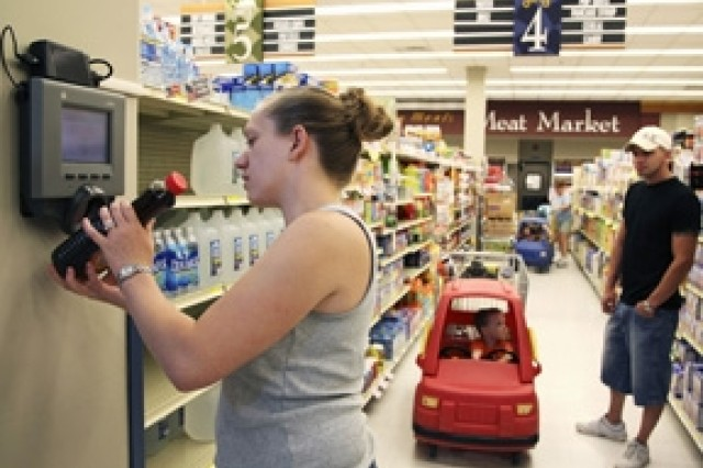 To serve customers better, commissary staff recently installed a bar-code scanner.