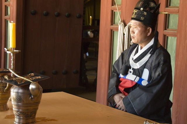 Korean participants reenact a 600-year-old ceremony down to the finest detail.