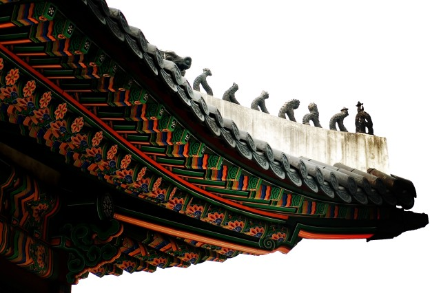 Traditional Korean designs adorn the palace facilities.