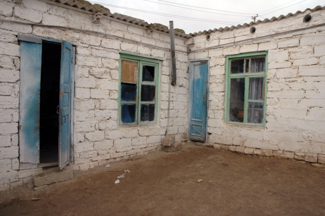The decaying condition of the school currently used by refugee children near Baku, Azerbaijan, clearly illustrates the need for EUCOMAca,!a,,cs Humanitarian Assistance program in the Caucasus countries.