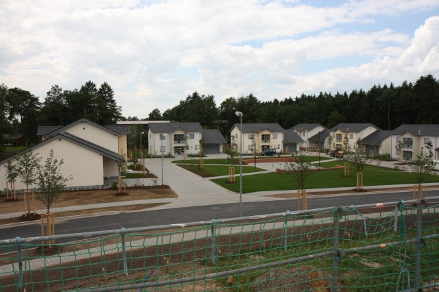 Seven completed field-grade officer housing units await their tenants in Spangdahlem