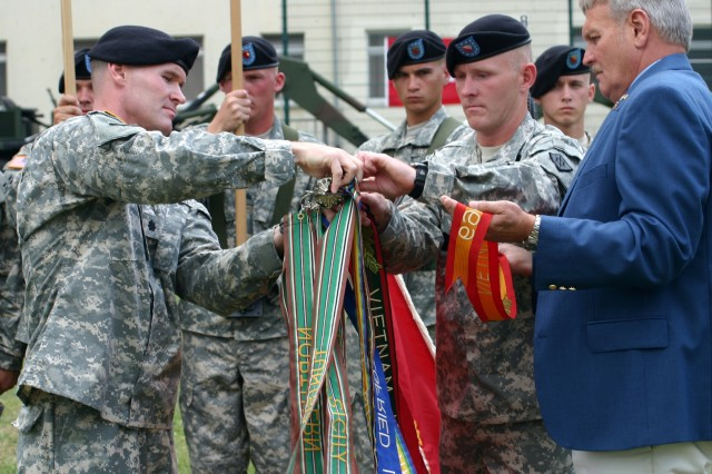 15th Engineer Battalion uncases colors during activation ceremony in Schweinfurt