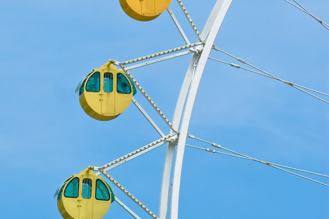 The Grand Ferris Wheel gives visitors a bird's eye view of Everland Resort.