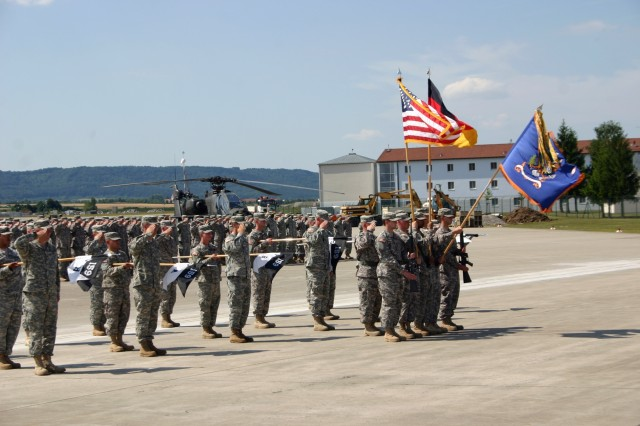 Aviation Battalion conducts ceremony to note its upcoming deployment to Iraq
