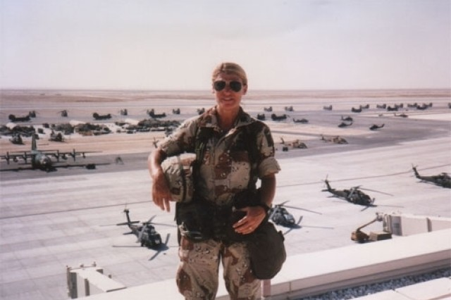 During Desert Storm, Maj. Ann Dunwoody served as the Division Parachute Officer for the 82nd Airborne Division.