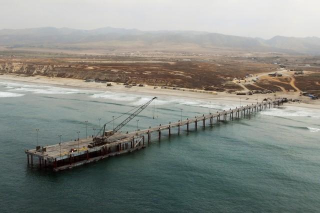 Navy Elevated Causeway (ELCAS) at JLOTS