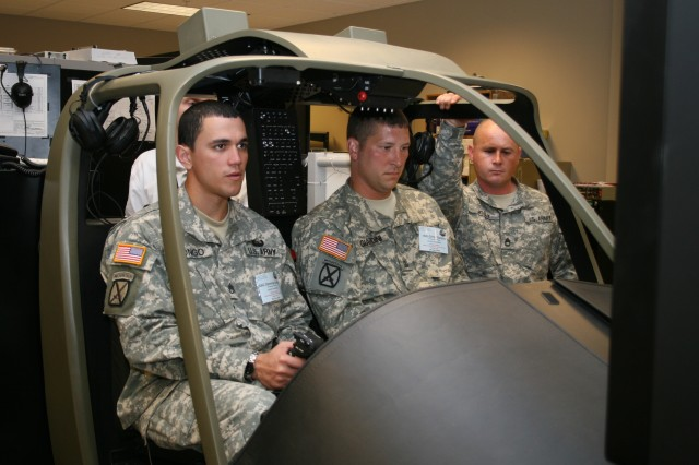 The Kiowa Warrior Cockpit Procedures Trainer with Image Generator is a training device used by the Aviation Training Brigade, Kiowa Academics at Fort Rucker, Ala. to support the training of pilots, co-pilots, and maintenance test pilots in the crew station tasks necessary to operate the OH-58D Kiowa Warrior aircraft. Personnel in the Aviation Division of the Software Engineering Directorate are responsible for maintaining the trainer and providing hardware and software development and sustainment support to keep concurrency with the fielded OH-58D aircraft configuration.
