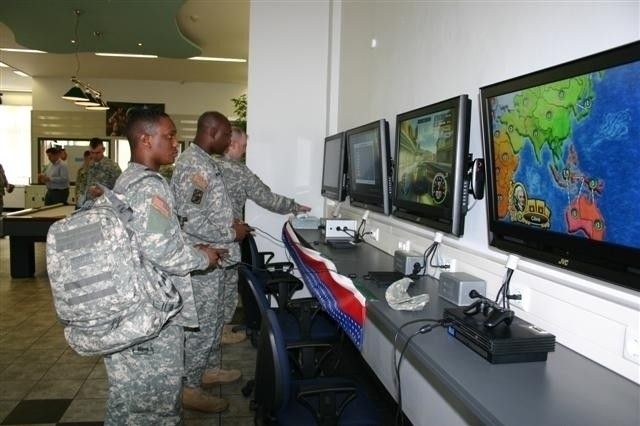 Soldiers at U.S. Army Garrison Schweinfurt, Germany, use the video games at the Finney Recreation Center, which was named the top center in its size category in the Army.