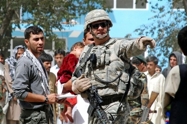 National Guard, British Soldiers Aid Afghans