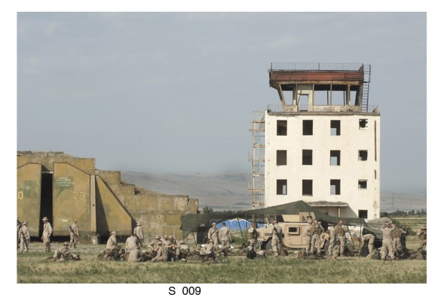 "The Vaziani military base in the country of Georgia was the background for a recent combined training exercise called ""Immediate Response '08.""  Soldiers from the U.S., Georgia, Ukraine, Armenia and Azerbaijan participated. The training base was once a Soviet military base."