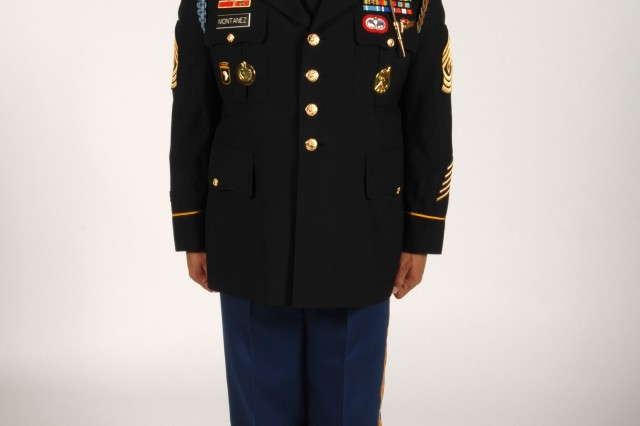 The new Army Service Uniform is based on the Army's current dress blue uniform and will replace the white, blue and green service uniforms. Paratroopers are authorized to wear the black combat boots with the new ASU.