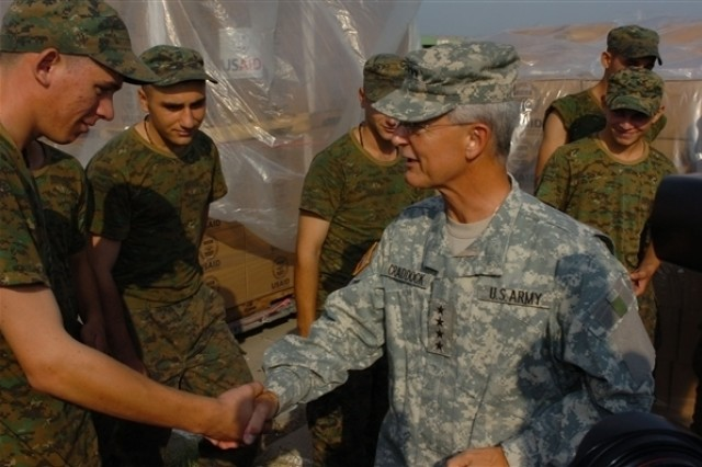 European Command Chief Checks Georgia Relief Effort First-Hand