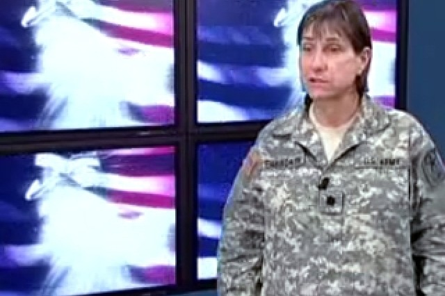 Lt. Col. Kathryn Ensworth, Branch Policy Chief for Women in the Army.