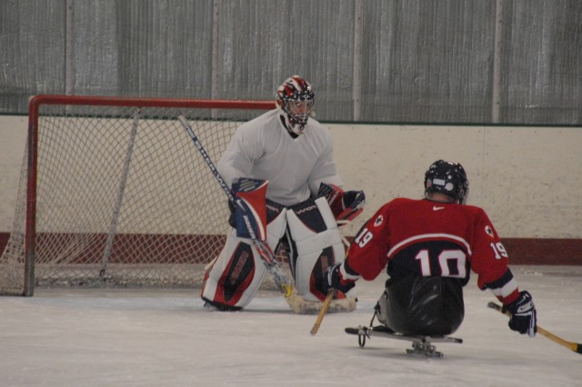 Wounded warriors take to the ice