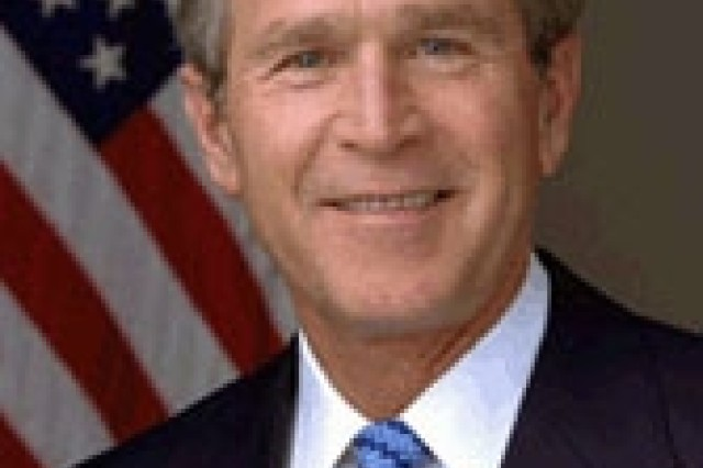 President of the United States of America George W. Bush