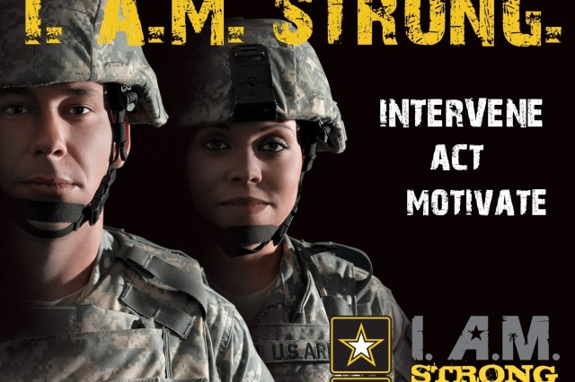 I. A.M. Strong sexual assault prevention campaign poster
