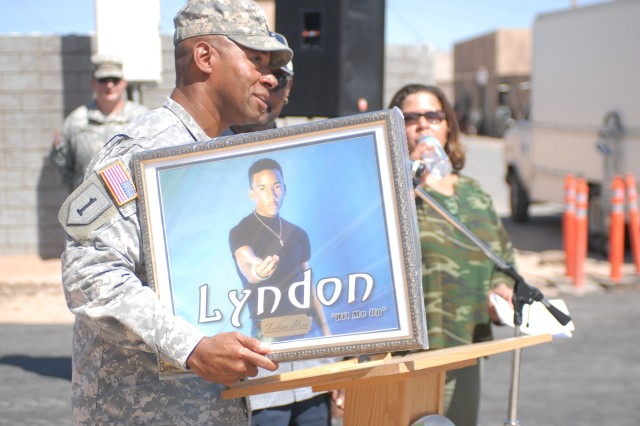 Hotel dedicated at Fort Irwin in honor of fallen soldier