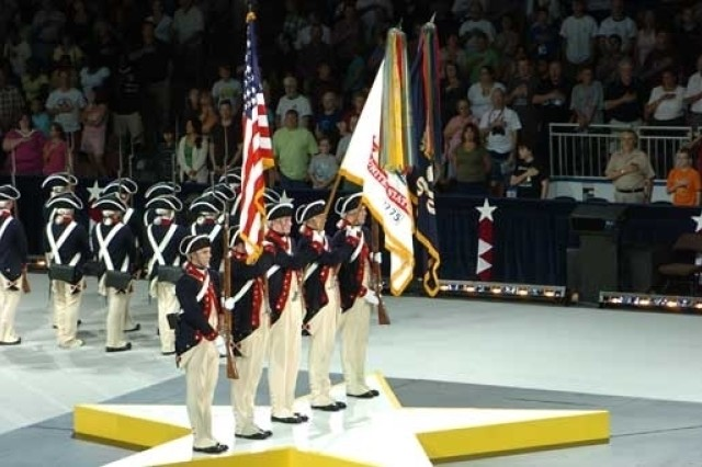 Soldiers of the 3rd U.S. Infantry Regiment (The Old Guard) perform a past Spirit of America show.