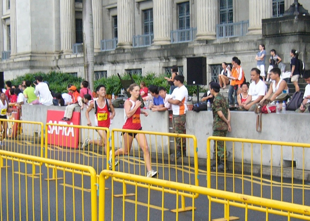U.S. Represents at Singapore Army Half Marathon