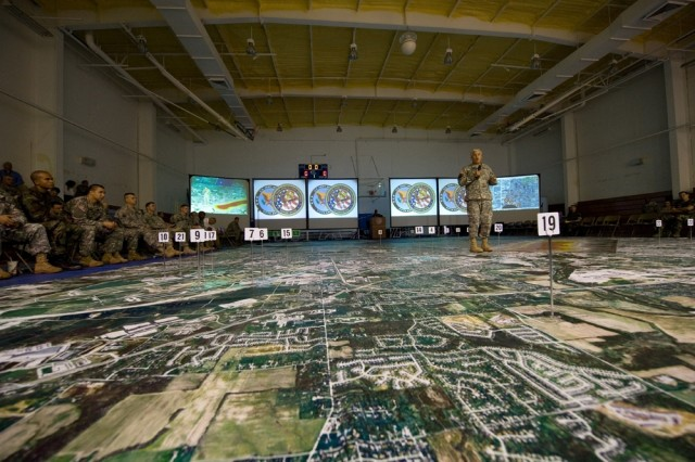 Chief of Staff of the Army Gen. George W. Casey, Jr., addresses participants of a  chemical, biological, radiological, nuclear and high-yield explosive incidents (CBRNE) Consequence Management Response Force CCMRF exercise at Ft. Stewart, Ga., Sept. 14, 2008.  CCMRF is designed to educate key leaders and staff on the response environment and to train them to work together as a joint team.