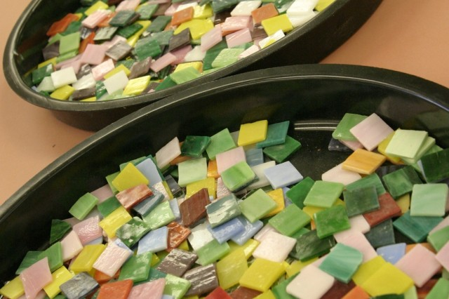 SCHOFIELD BARRACKS, Hawaii - A variety of square tiles sit at the Schofield Barracks Arts & Crafts Center waiting to become a piece of art. The center offers numerous programs for the whole family to indulge in creative activities.