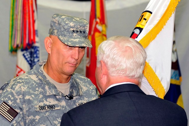 ODIERNO TAKES COMMAND