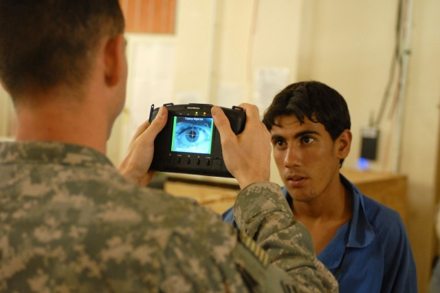 Soldiers Use Biometrics to Increase Force Protection
