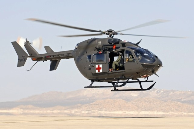 Pictured is the Army's newest utility helicopter the Uh-72 Lakota.