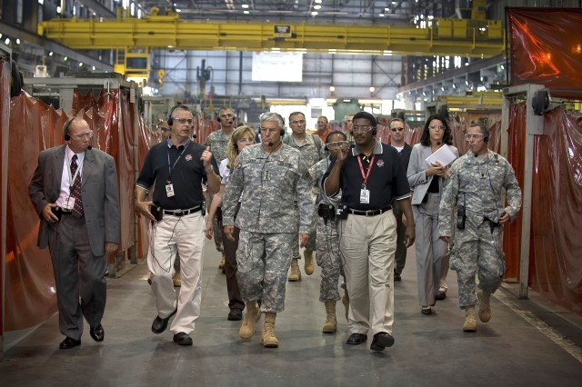Army chief gets glimpse of vehicle reset work at Anniston