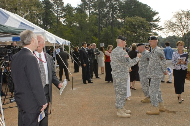 Employees from across Redstone Arsenal, AMC, USASAC, the local community and elected officials all turned out to celebrate the groundbreaking of the new AMC/USASAC headquarters buildings.